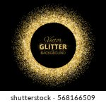 black and gold background with... | Shutterstock .eps vector #568166509