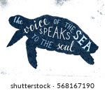 the voice of the sea speaks to... | Shutterstock .eps vector #568167190