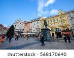 zagreb  croatia   december 18 ... | Shutterstock . vector #568170640