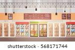 big shop super market shopping... | Shutterstock .eps vector #568171744