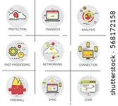 sync synchronize internet cloud ... | Shutterstock .eps vector #568172158