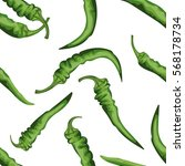 seamless chile pepper pattern.... | Shutterstock .eps vector #568178734