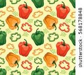 seamless  vegetable background... | Shutterstock .eps vector #568178848