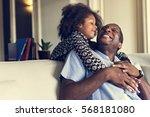 african descent family house... | Shutterstock . vector #568181080