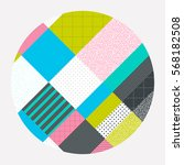 neo memphis style colorful... | Shutterstock .eps vector #568182508