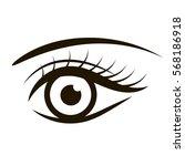 female eye isolated on white | Shutterstock .eps vector #568186918