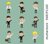 set of businessman character... | Shutterstock .eps vector #568191160