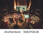 sound engineer and musician... | Shutterstock . vector #568192618