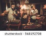 professional music band... | Shutterstock . vector #568192708
