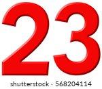 Numeral 23  Twenty Three ...