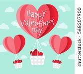 happy valentine's day vector... | Shutterstock .eps vector #568207900