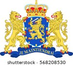 coat of arms of netherlands or... | Shutterstock .eps vector #568208530