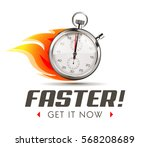 faster   time is running out  ... | Shutterstock .eps vector #568208689