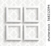 white frames on the wallpaper...   Shutterstock .eps vector #568212094