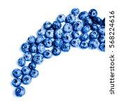 fresh sweet blueberry fruit.... | Shutterstock . vector #568224616