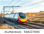 day view of uk railroad in... | Shutterstock . vector #568227040