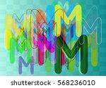 alphabet m template elements   Shutterstock .eps vector #568236010