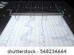 a 3d render of a polygraph lie... | Shutterstock . vector #568236664
