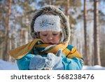 Winter  Forest  Child. Little...