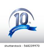 10 years anniversary... | Shutterstock .eps vector #568239970