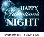 valentine day party design card ... | Shutterstock .eps vector #568241428