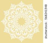 oriental vector round white... | Shutterstock .eps vector #568241548