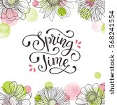 floral frame with text.... | Shutterstock .eps vector #568241554