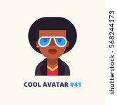 black man in sunglasses. cool... | Shutterstock .eps vector #568244173