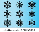 snowflake vector icon... | Shutterstock .eps vector #568251394