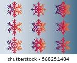 snowflake vector icon... | Shutterstock .eps vector #568251484
