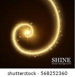 festive shiny spiral vector... | Shutterstock .eps vector #568252360