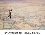miniature figurine of lonely ... | Shutterstock . vector #568255783