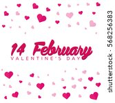 happy valentines day.... | Shutterstock .eps vector #568256383