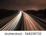 highway traffic at night   Shutterstock . vector #568258720