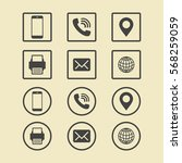 business card icon set. web...   Shutterstock .eps vector #568259059