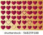 red heart vector icon... | Shutterstock .eps vector #568259188