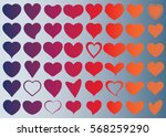 red heart vector icon... | Shutterstock .eps vector #568259290