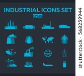 industrial and factory icons... | Shutterstock .eps vector #568259944