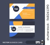 business card design layout... | Shutterstock .eps vector #568261390