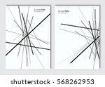 vector abstract brochure... | Shutterstock .eps vector #568262953