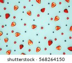 top view of colorful fruits... | Shutterstock . vector #568264150