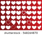 white heart vector icon... | Shutterstock .eps vector #568264870