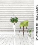 modern bright interior . 3d... | Shutterstock . vector #568268293