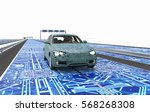 self driving electronic... | Shutterstock . vector #568268308