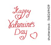 happy valentine's day on a... | Shutterstock .eps vector #568269439