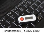 hand of a person using a... | Shutterstock . vector #568271200