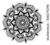 mandalas for coloring book.... | Shutterstock .eps vector #568275298