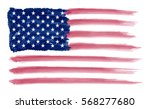 watercolor flag of america... | Shutterstock .eps vector #568277680