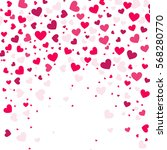 colorful background with heart... | Shutterstock .eps vector #568280770