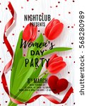 poster for women's day party....   Shutterstock .eps vector #568280989